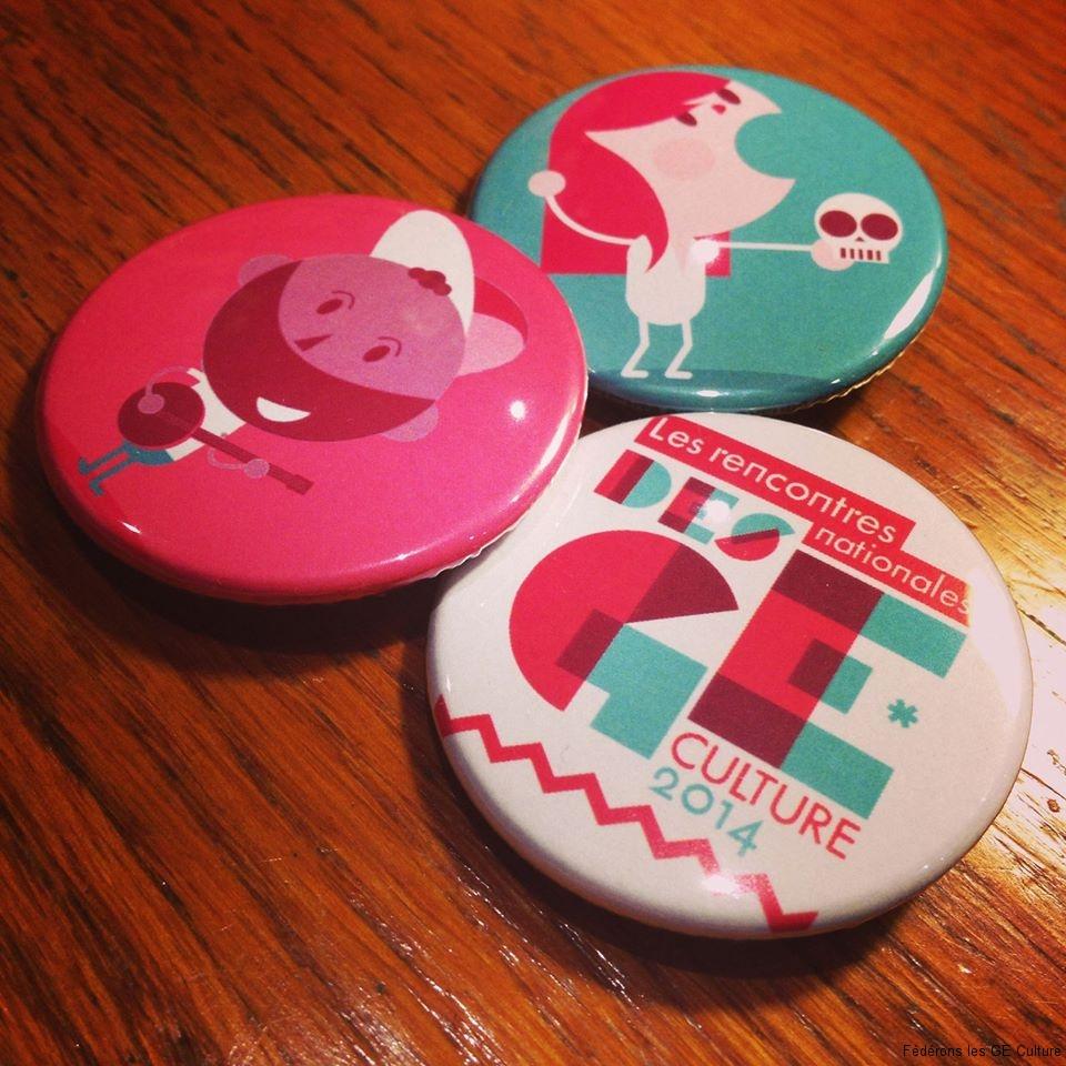 Des badges aux couleurs des rencontres