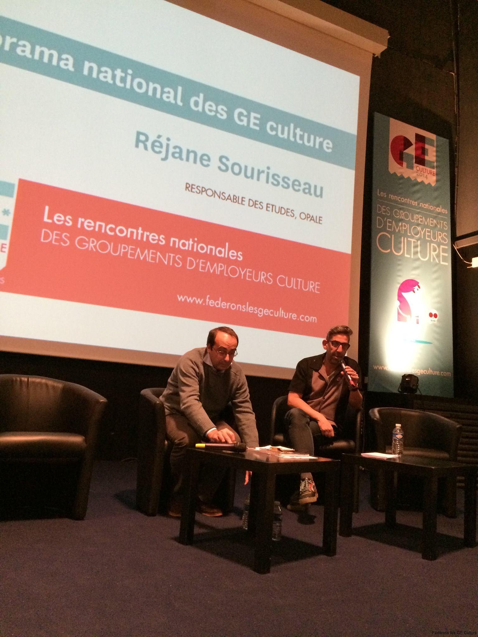 Jean Dalichoux et Frack Testaert en plénière