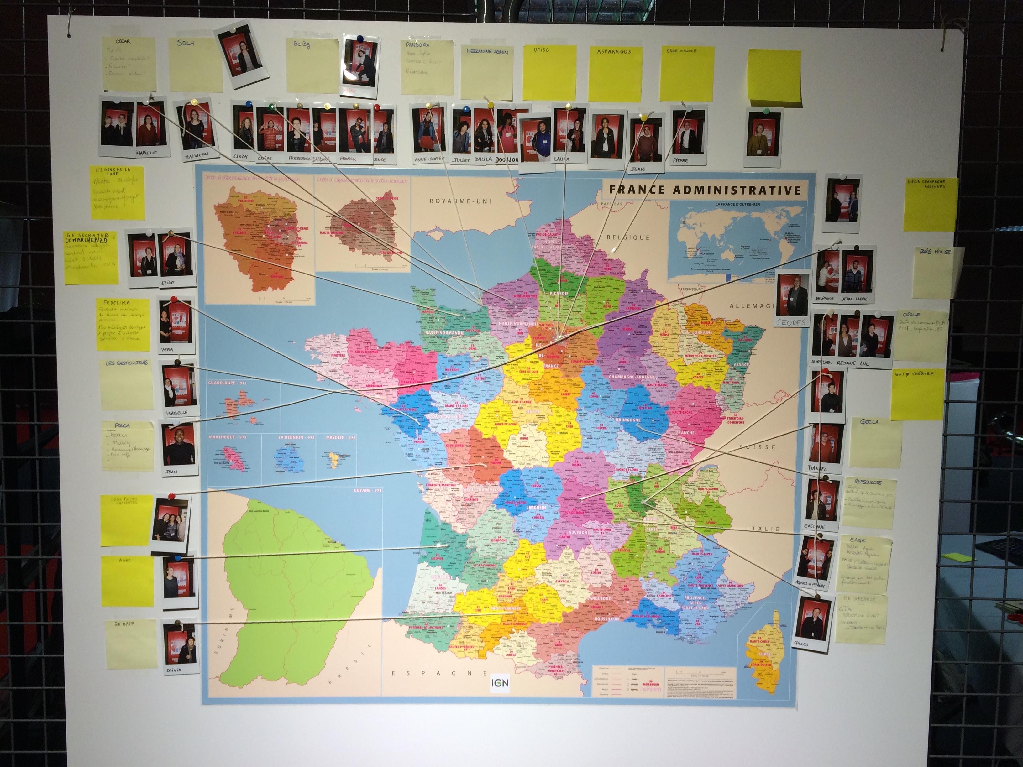 Cartographie des GE Culture présents